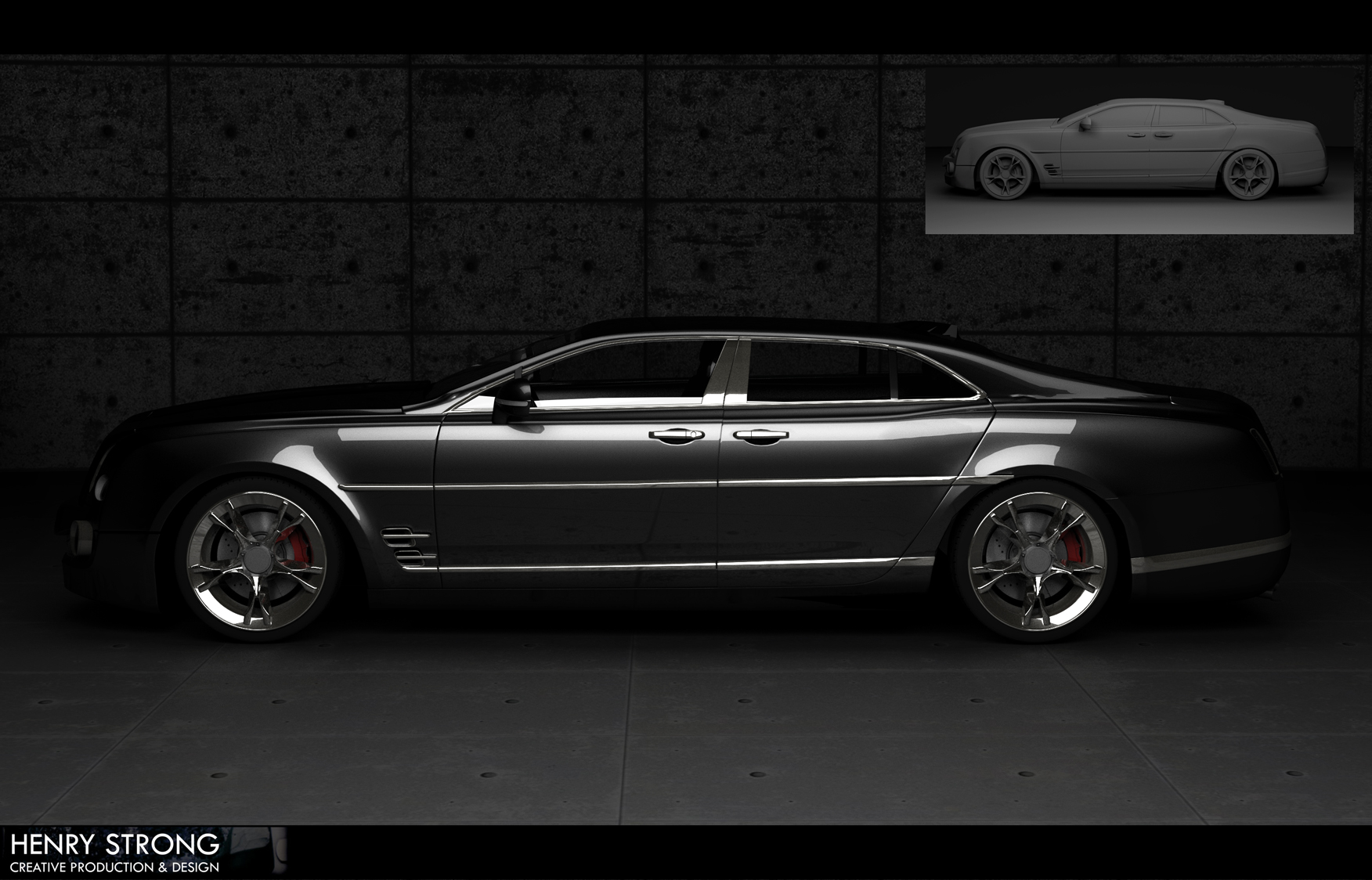 Concept Car V3 – 3Ds Max + Vray – Henry Strong