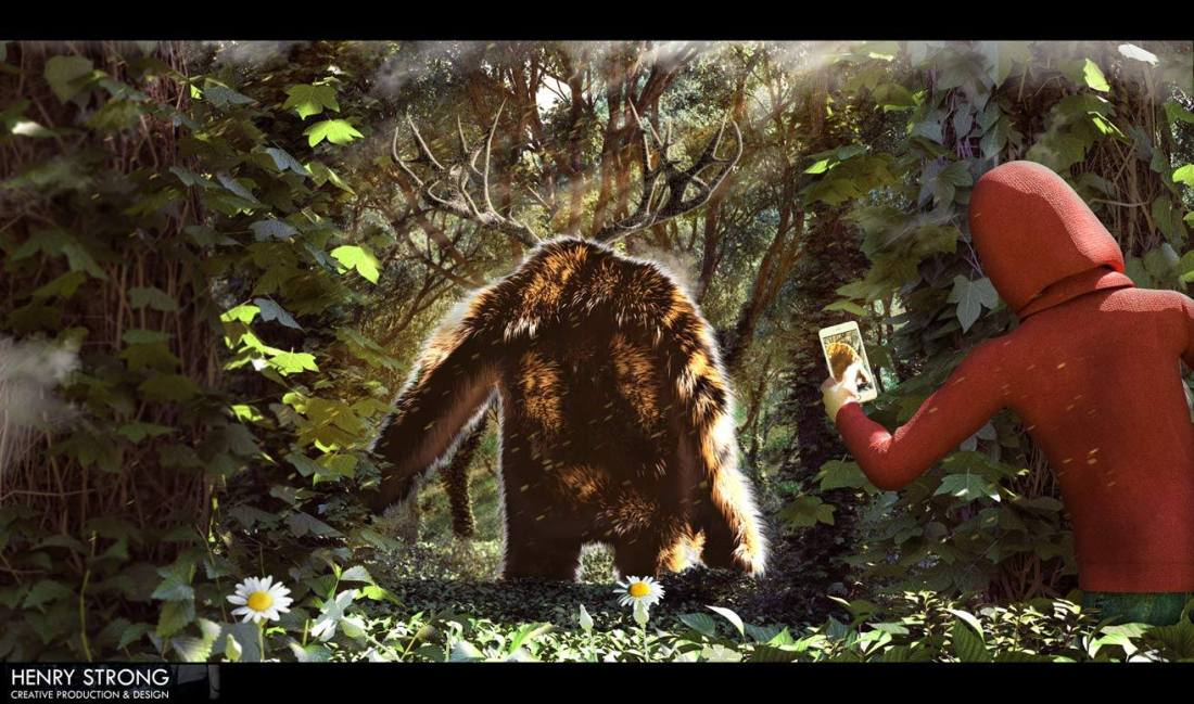 monster in forest henry strong _